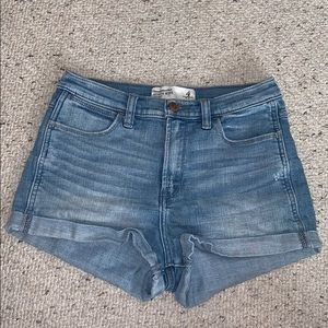 Abercrombie Medium Wash Denim Shorts